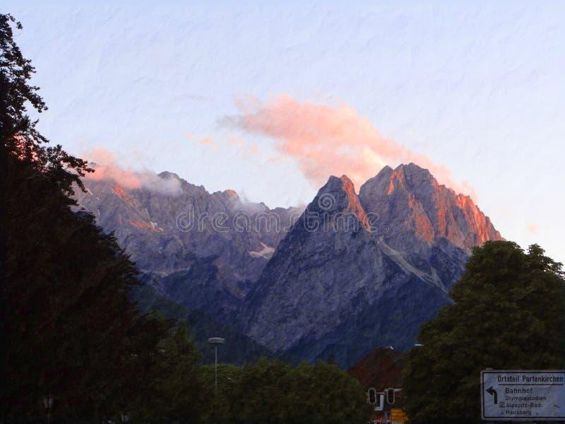 Niemieckie góry zdjęcie stock