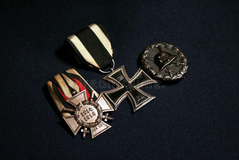 Niemieckie pierwszych wojn światowych nagrody zdjęcie stock