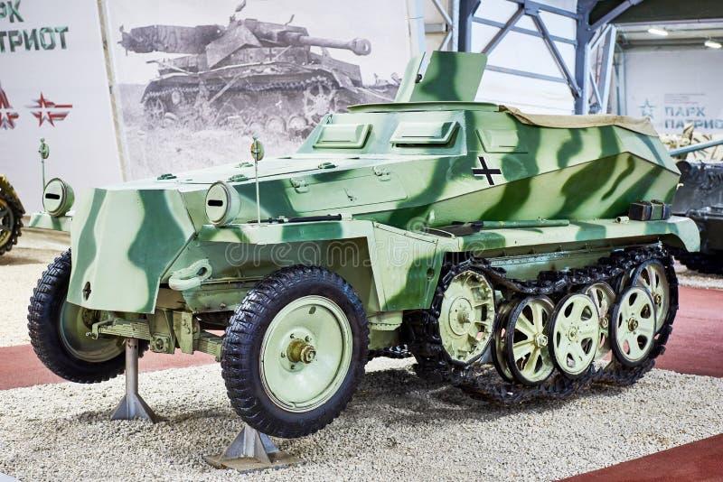 Niemieckiego specjalnego pojazdu mechanicznego światła opancerzony halftrack Sd Kfz 250 obraz royalty free