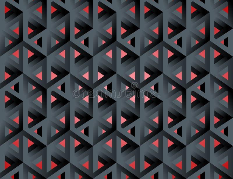 Niemożliwych postaci 3d wydrążenia isometric sześciany ilustracji