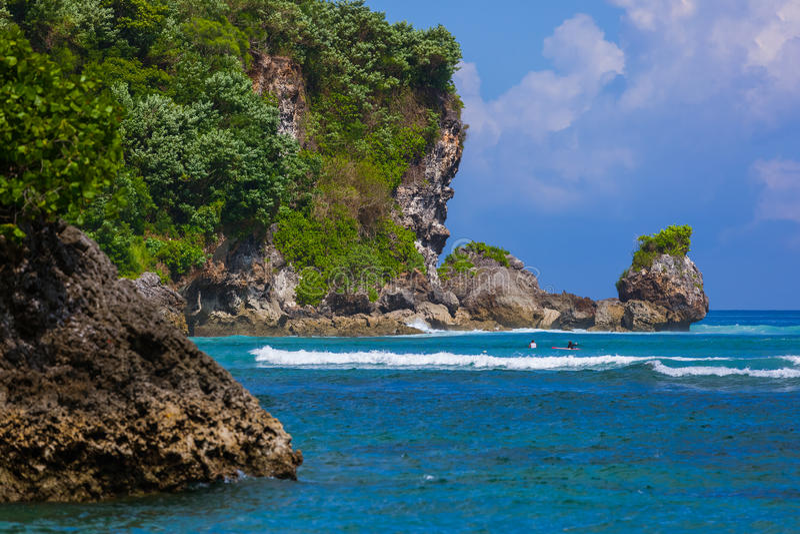 Niemożliwa plaża - Bali Indonezja obrazy stock