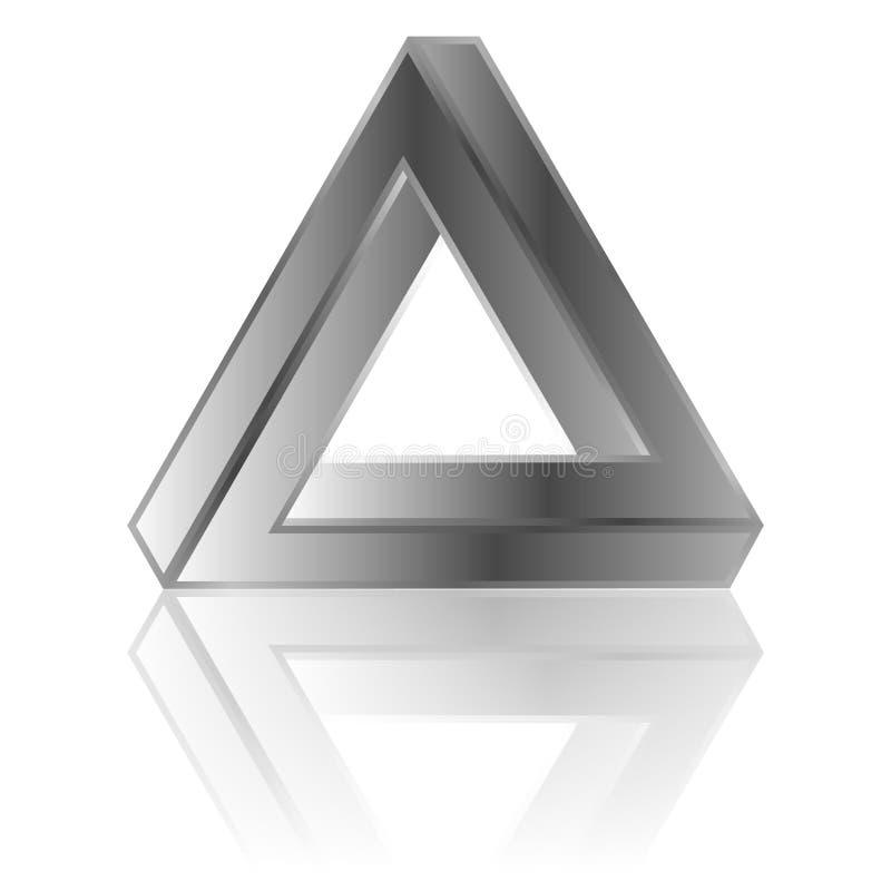 niemożliwe trójkąt royalty ilustracja