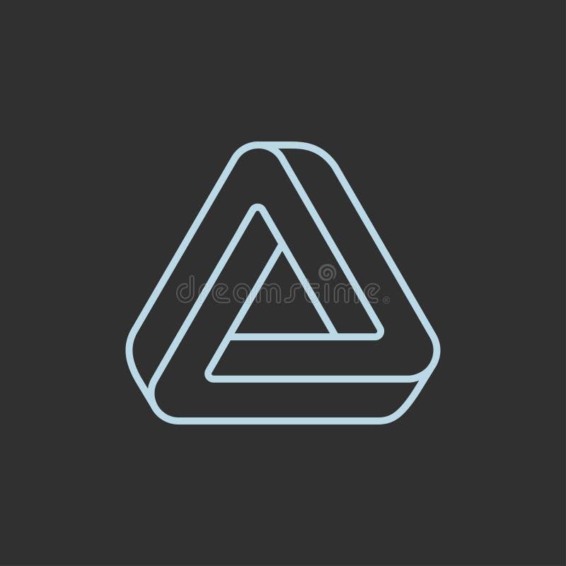 Niemożliwy trójboka logo royalty ilustracja