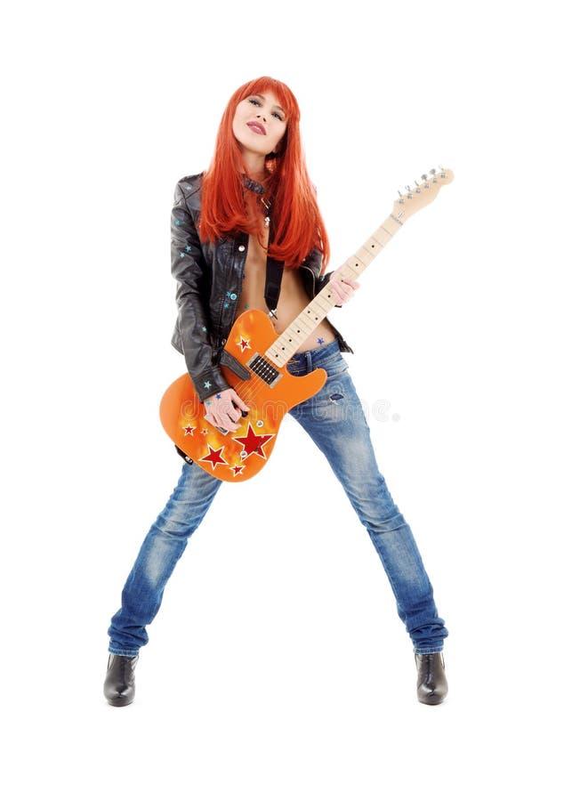 niemowlę gitara zdjęcie royalty free