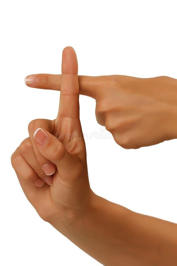 Niemy abecadło przedstawia rękę na białym tle fotografia royalty free