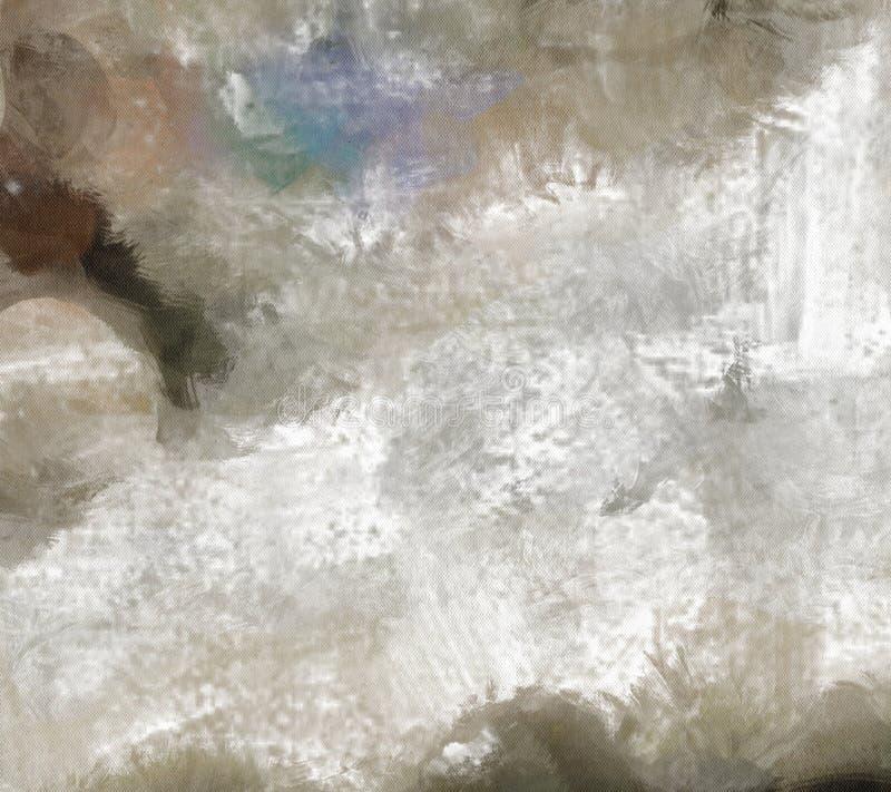 Niemy Abstrakcjonistyczny obraz ilustracji