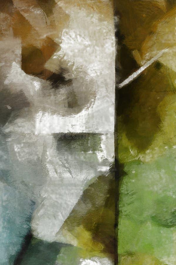 Niemy Abstrakcjonistyczny obraz ilustracja wektor
