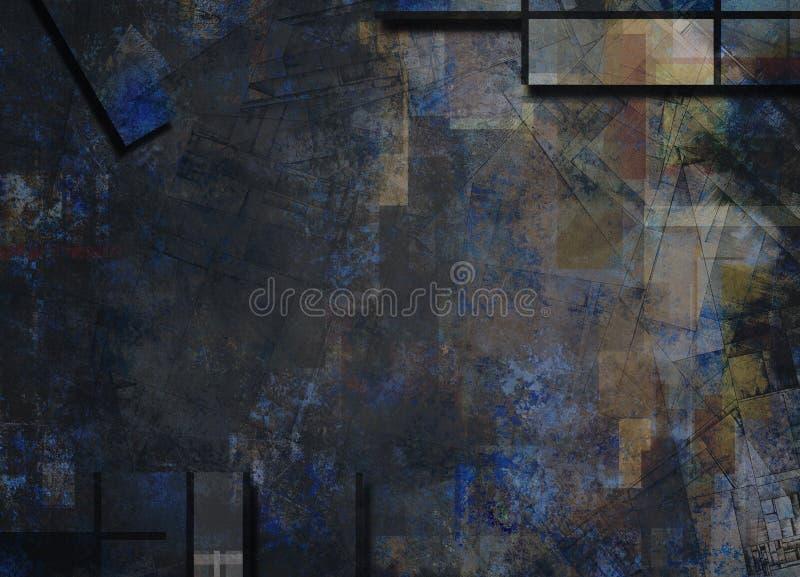 Niemy Abstrakcjonistyczny tło ilustracja wektor