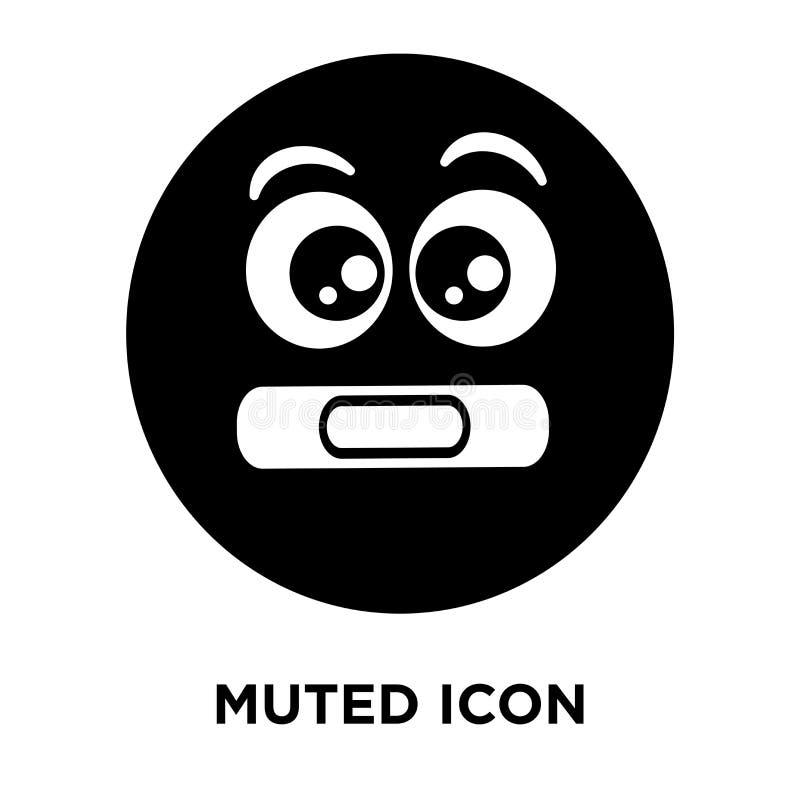 Niemy ikona wektor odizolowywający na białym tle, loga pojęcie royalty ilustracja