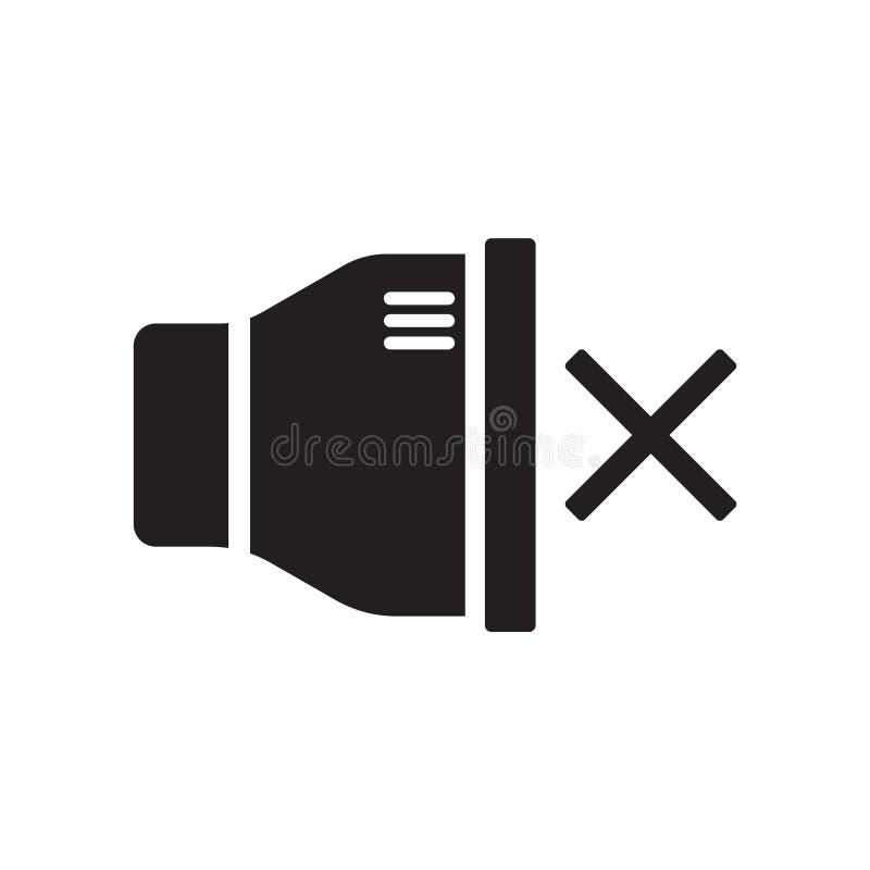 Niemy ikona wektor odizolowywający na białym tle, niemowa znak ilustracji