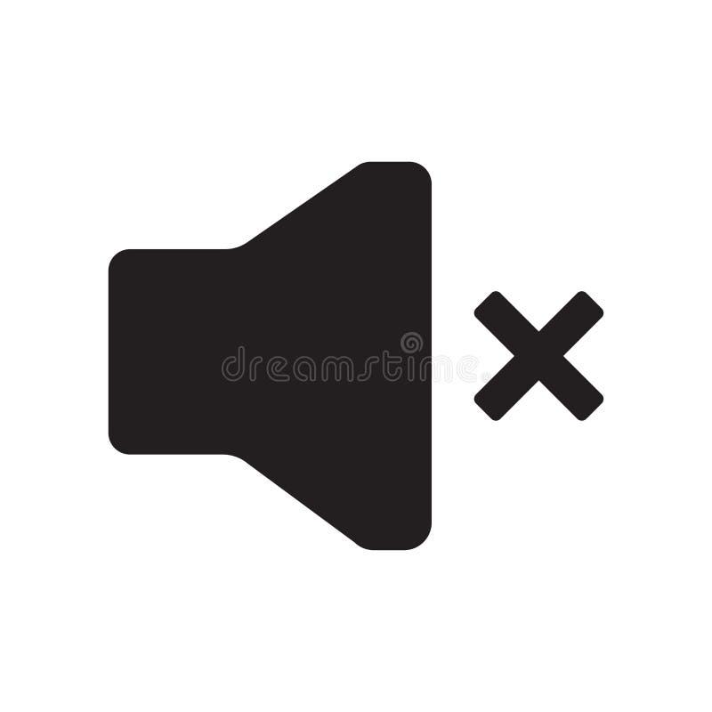 Niemy ikona wektoru znak i symbol odizolowywający na białym tle, Niemy loga pojęcie ilustracja wektor