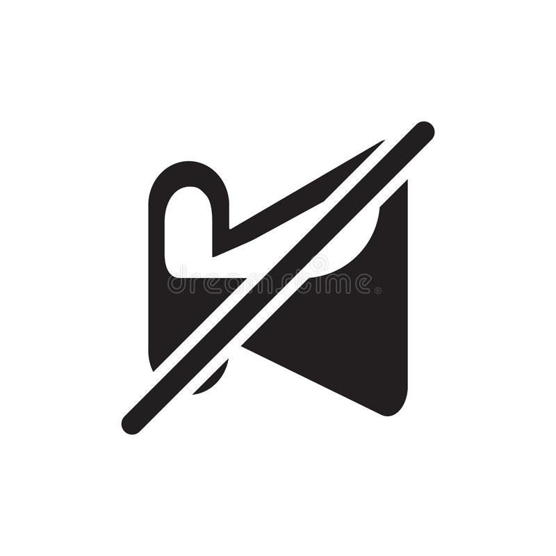 Niemy ikona wektoru znak i symbol odizolowywający na białym tle, Niemy logo pojęcie ilustracji