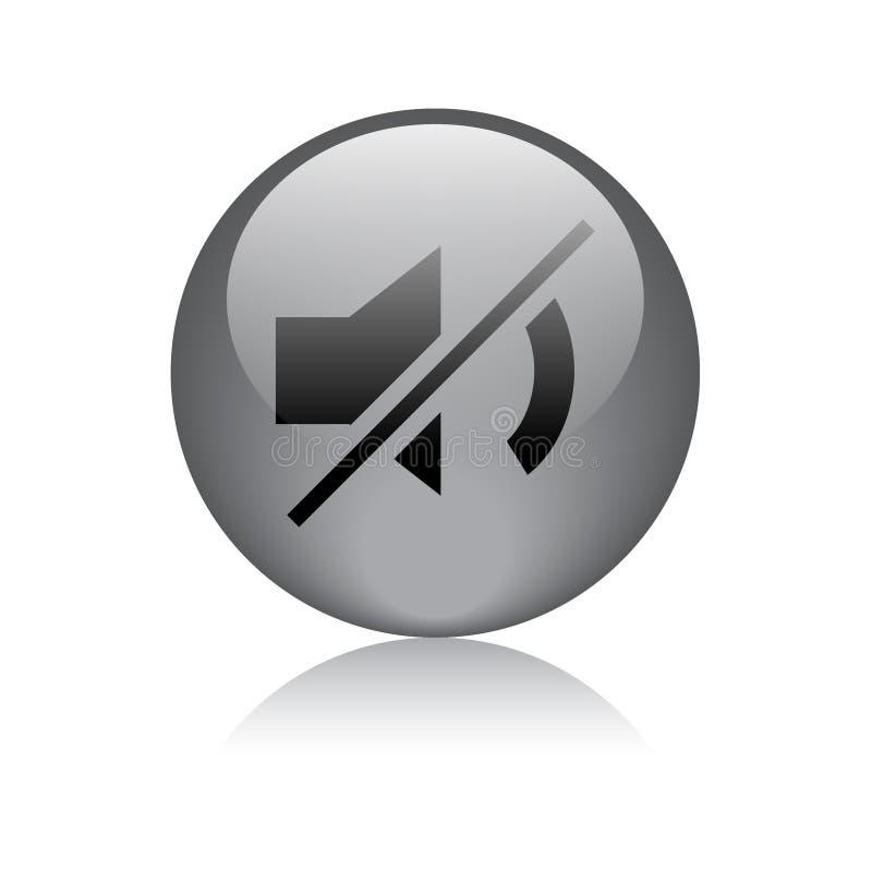 Niemy ikony sieci guzik ilustracja wektor