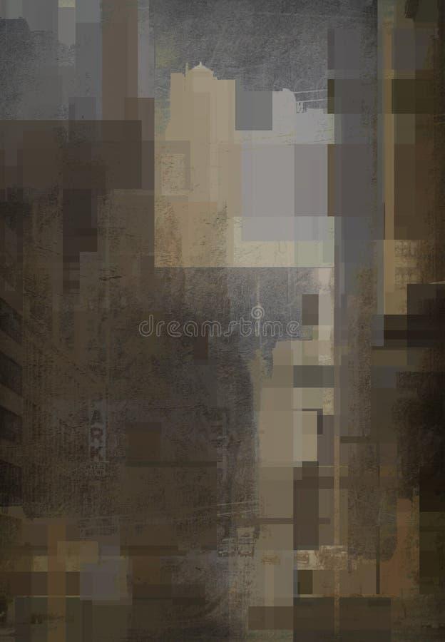 Niemy Miastowy abstrakt royalty ilustracja