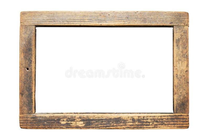 Nieociosana drewniana rama z narysami i pęknięciami zdjęcia royalty free