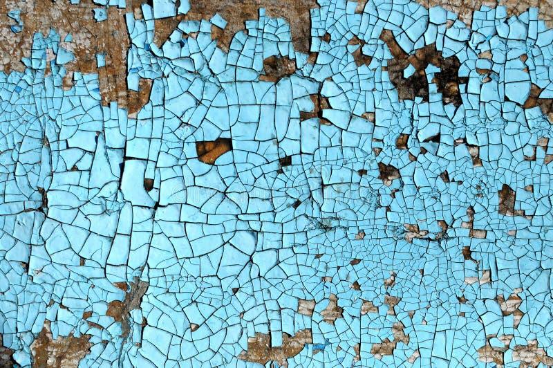 Nieociosana hardboard tekstura z narysami, pęknięcia i błękitny obieranie, malujemy Grunge tło zdjęcie royalty free