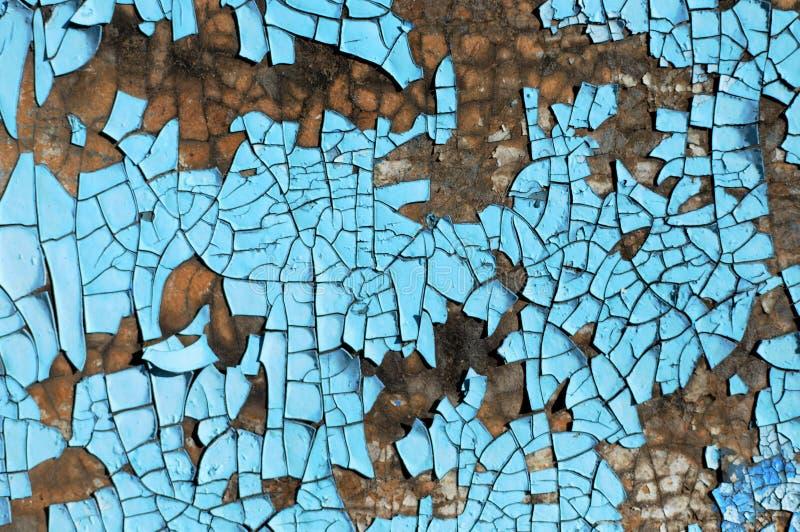 Nieociosana hardboard tekstura z narysami, pęknięcia i błękitny obieranie, malujemy Grunge tło obraz royalty free