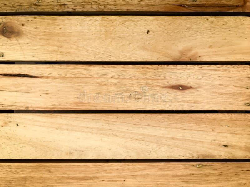 Nieociosany brown drewniany tło z horyzontalnymi deskami 2 zdjęcia stock