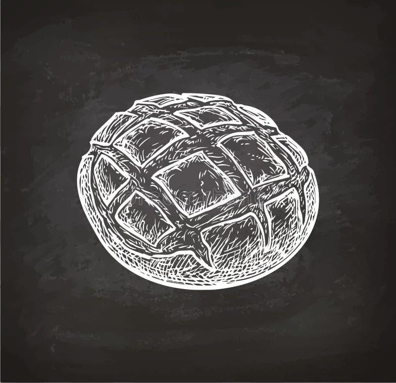 Nieociosany chleb kredy nakreślenie royalty ilustracja