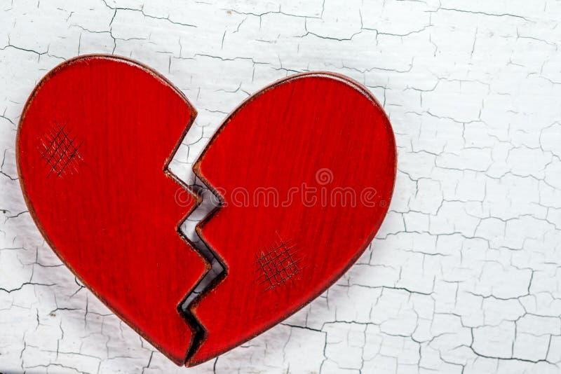 Nieociosany Czerwony z?amane serce zdjęcie royalty free