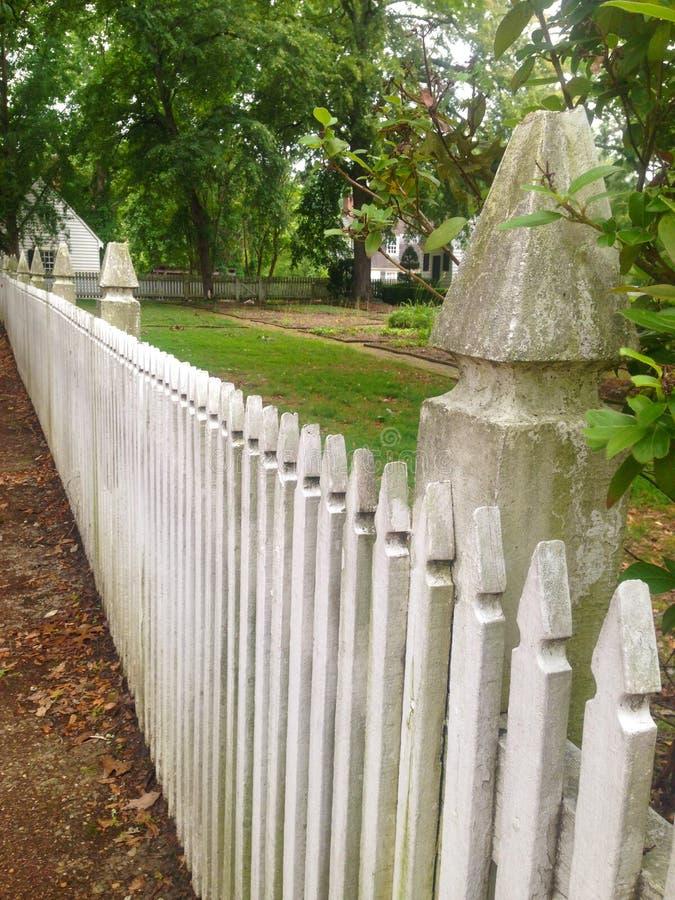Nieociosany palika ogrodzenie fotografia royalty free