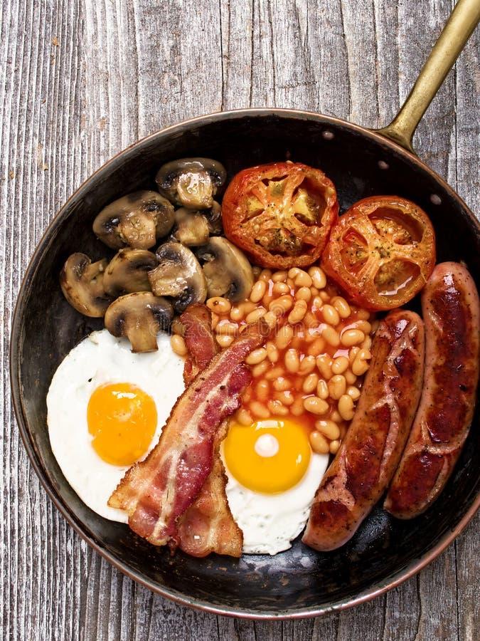 Nieociosany pełny angielski śniadanie zdjęcie royalty free