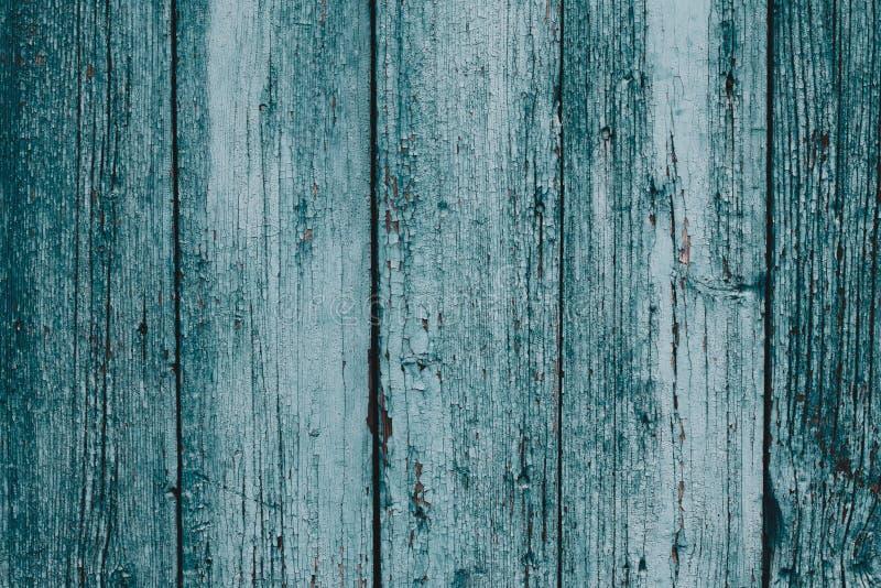 Nieociosany Stary Drewniany deski tło Błękitny i zielony rocznika szalunku tekstury tło Błękitny drewniany deski biurka stołu tła obrazy stock