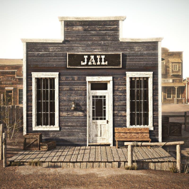 Nieociosany zachodni grodzki więzienie zdjęcie royalty free