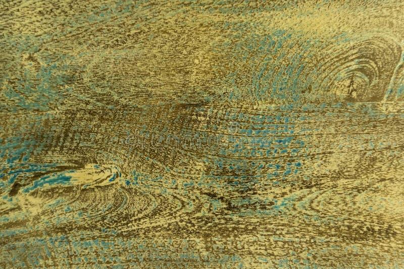 Nieociosany zmrok - błękit malował drewnianą teksturę jako tło Błękitna łupy farba na starej drewnianej desce zdjęcia stock