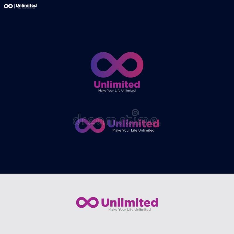 Nieograniczony Nowożytny logo w prosty przyciągający uwagę zdjęcia royalty free