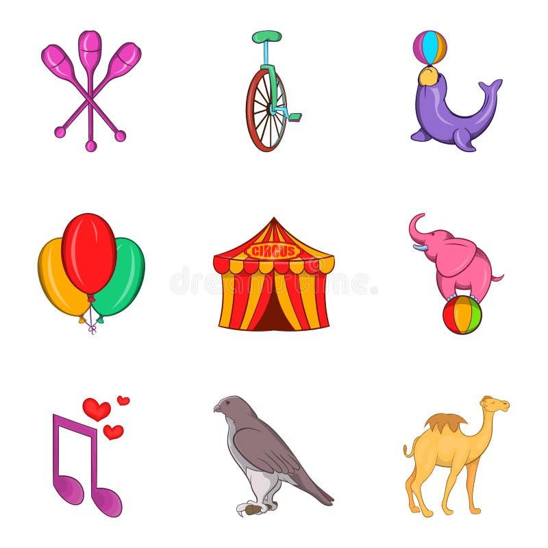 Niepłochliwe ikony ustawiać, kreskówka styl royalty ilustracja