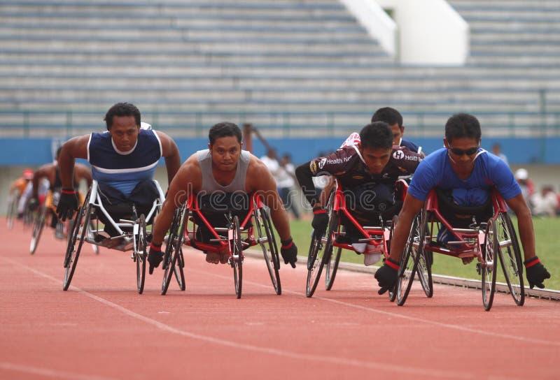 Niepełnosprawna atleta zdjęcia stock