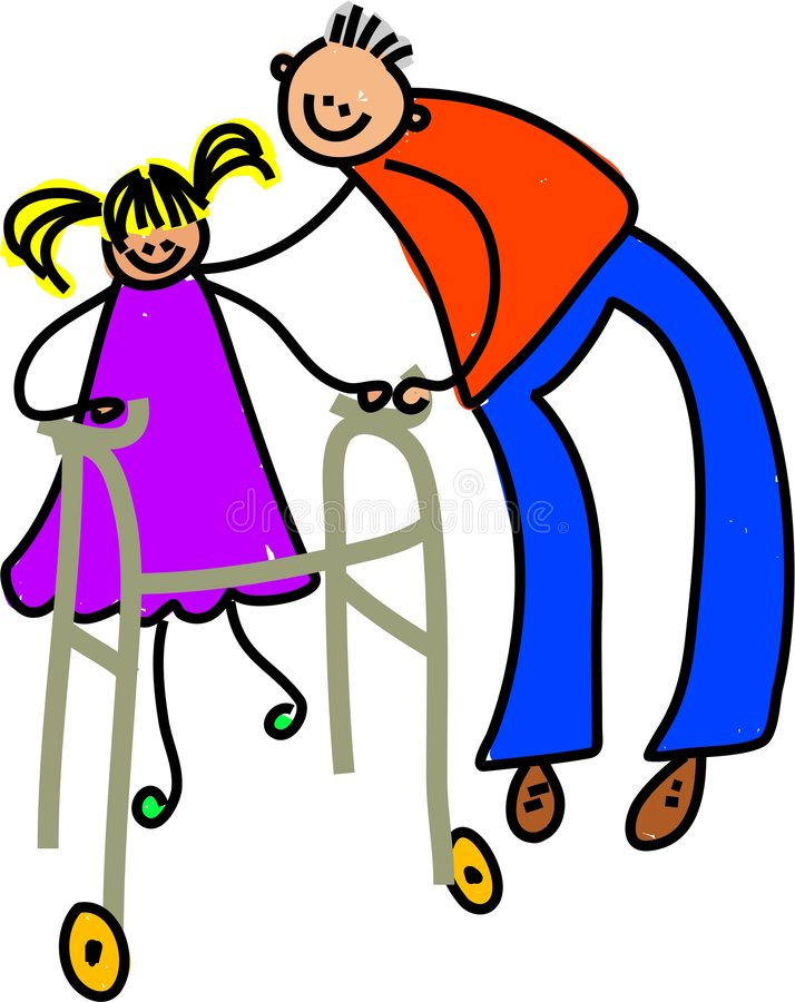 niepełnosprawna dziewczyna royalty ilustracja
