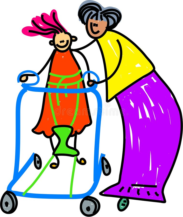 niepełnosprawna dziewczyna ilustracja wektor
