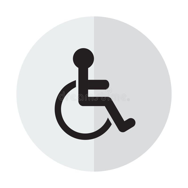 Niepełnosprawna for ikona royalty ilustracja