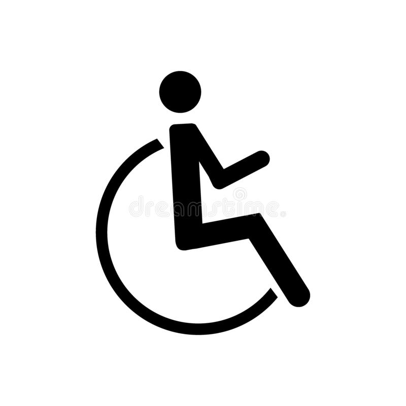 Niepełnosprawna ikona na bielu - wektor royalty ilustracja