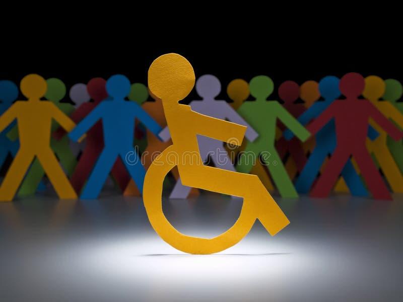 niepełnosprawna postać papier zdjęcia stock