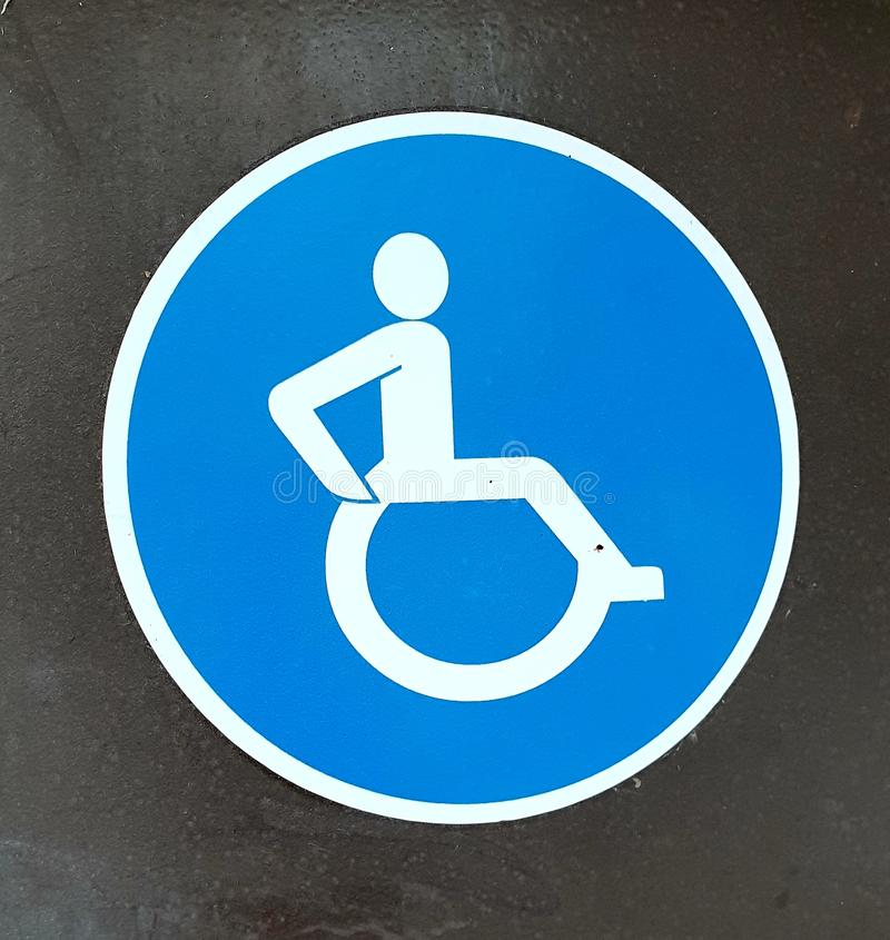 niepełnosprawni znak obraz stock