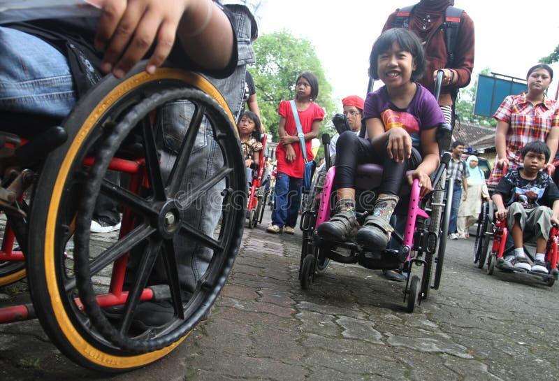 Niepełnosprawny dzień obraz royalty free