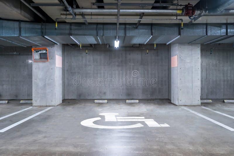 Niepełnosprawny garażu metro zdjęcia royalty free