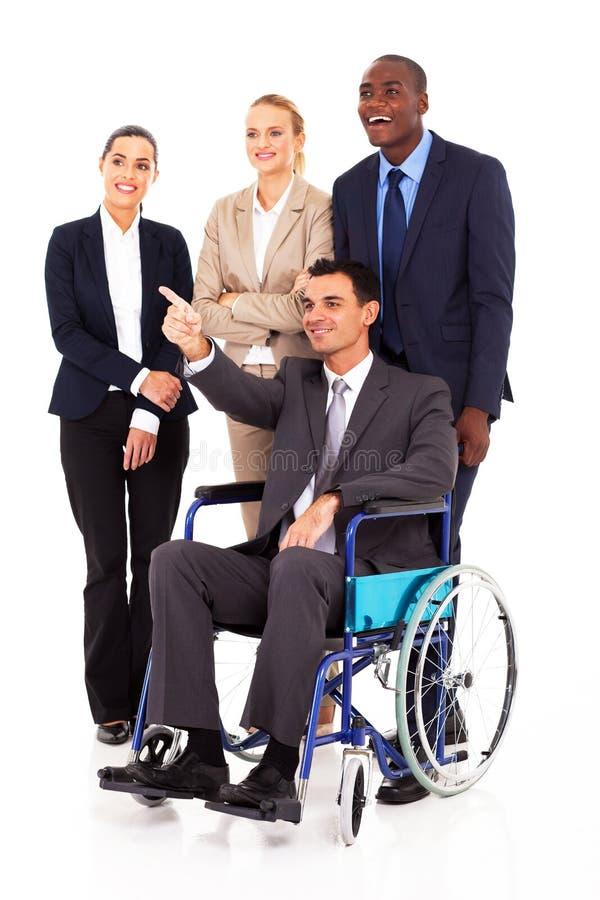 Niepełnosprawny lider biznesu zdjęcia stock