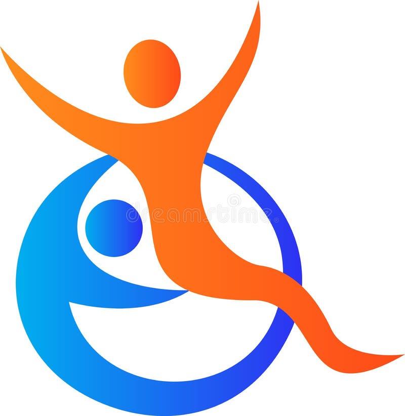 Niepełnosprawny opieka logo royalty ilustracja