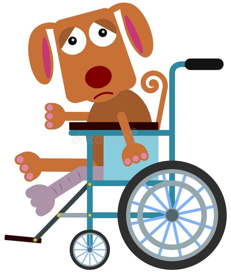 Niepełnosprawny pies ilustracji