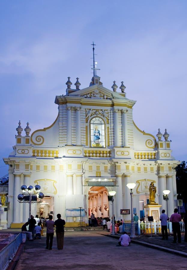 Niepokalanego poczęcia katedra, Pondicherry, India fotografia royalty free