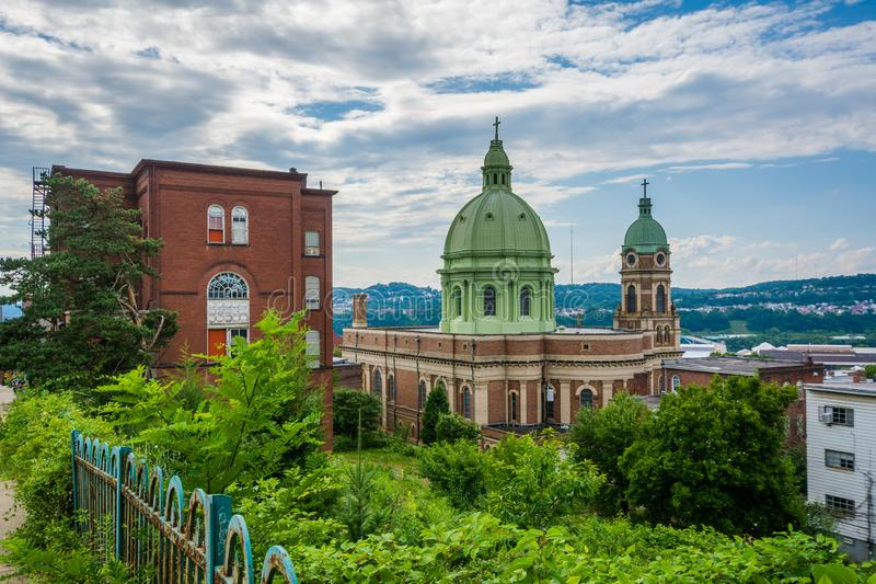 Niepokalany serce Maryjny kościół na Polskim wzgórzu w Pittsburgh, Pennsylwania obrazy stock