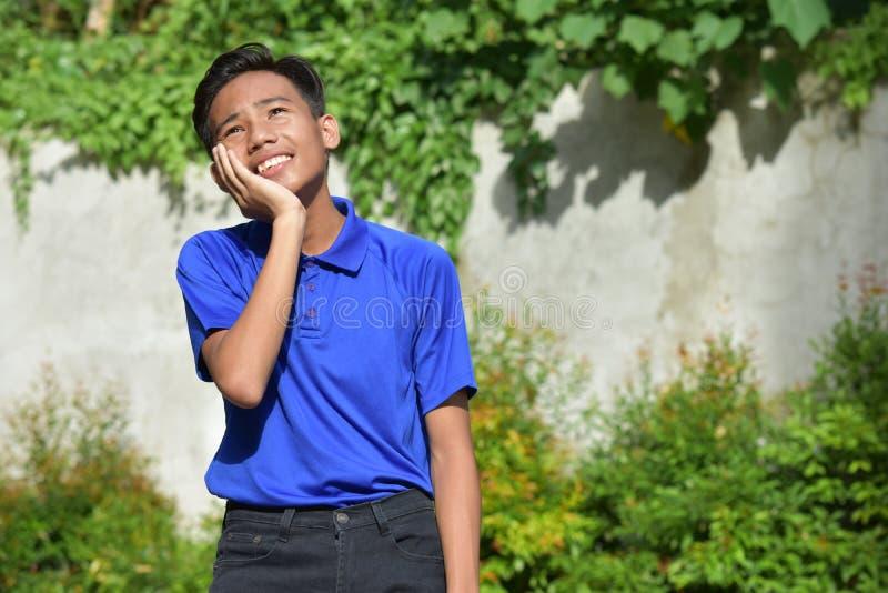 Niepokojąca Młodociana Różnorodna Nastoletnia chłopiec zdjęcia royalty free