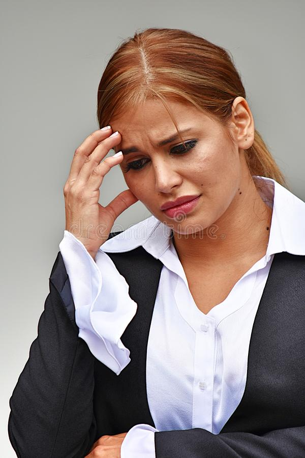 Niepokojąca Biznesowa kobieta Jest ubranym kostium obraz royalty free