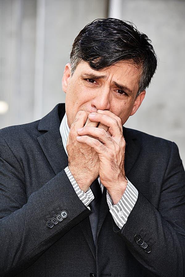 Niepokojący dyrektor wykonawczy obrazy stock