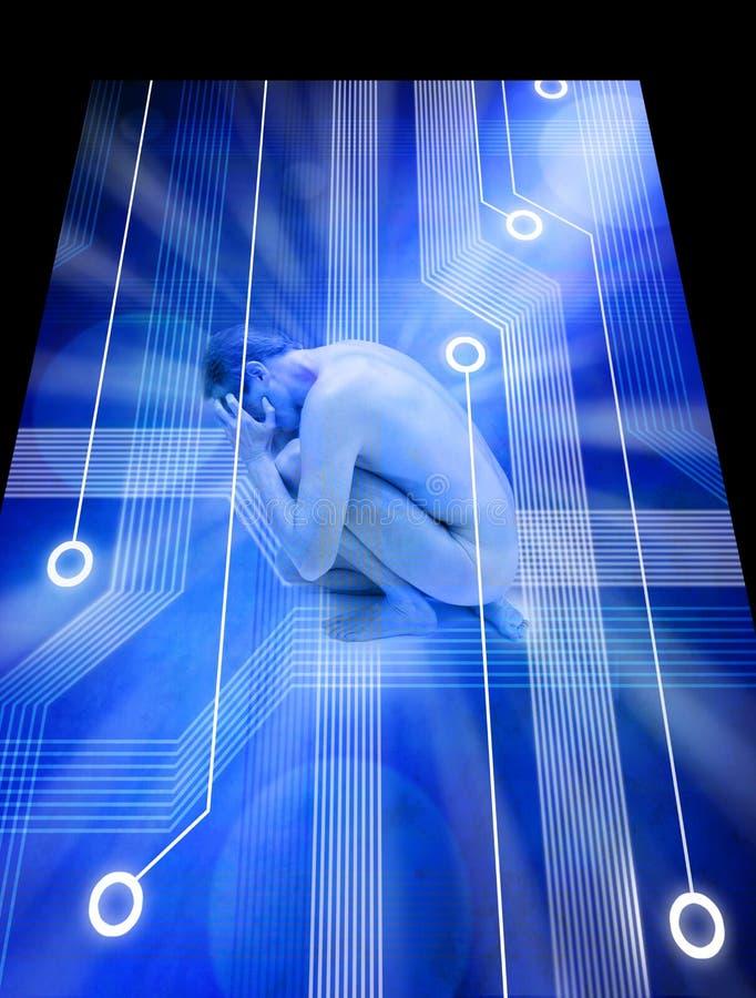 niepokoju komputerowa stresu technologia royalty ilustracja
