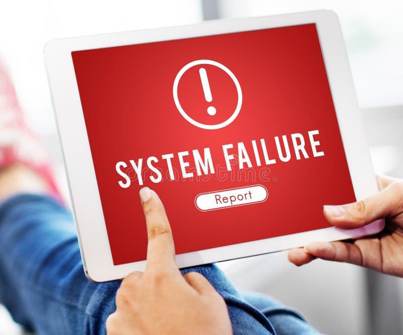 Niepowodzenie Atakujący Siekający Wirusowy AbEnd pojęcie zdjęcia stock